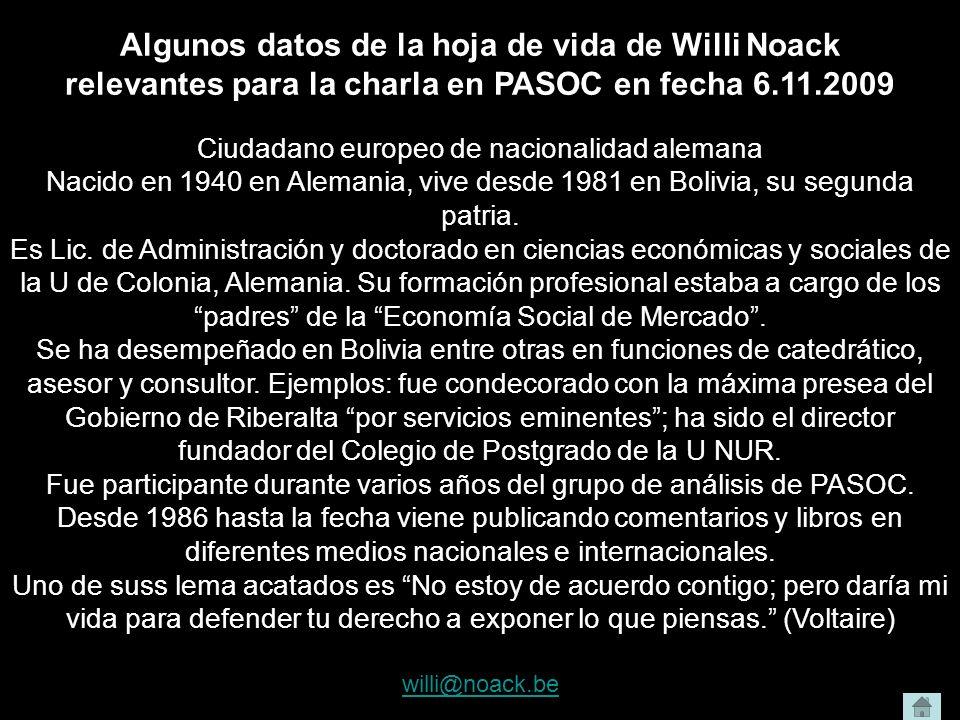 Algunos datos de la hoja de vida de Willi Noack