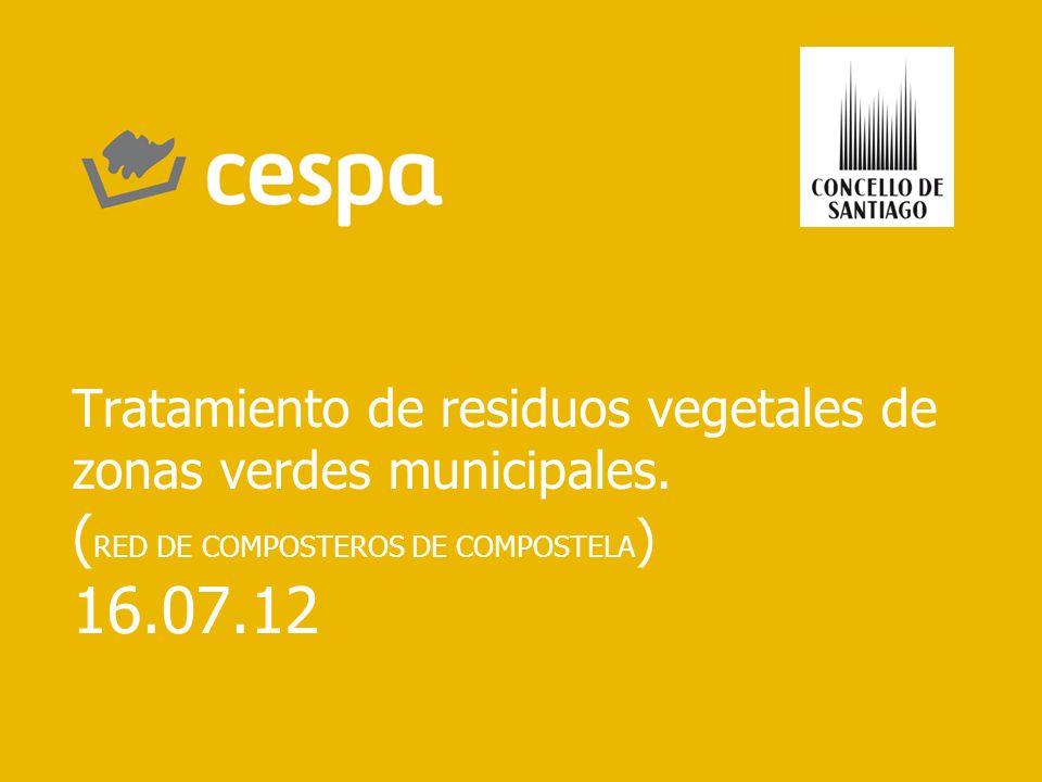 Tratamiento de residuos vegetales de zonas verdes municipales