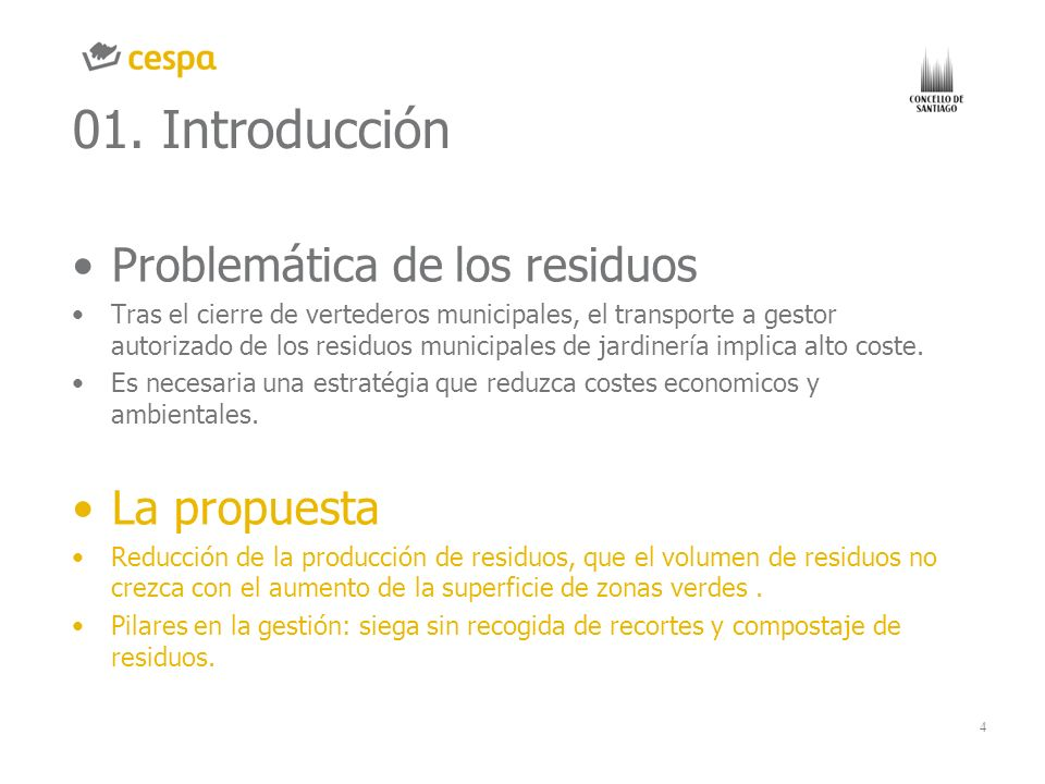 01. Introducción Problemática de los residuos La propuesta