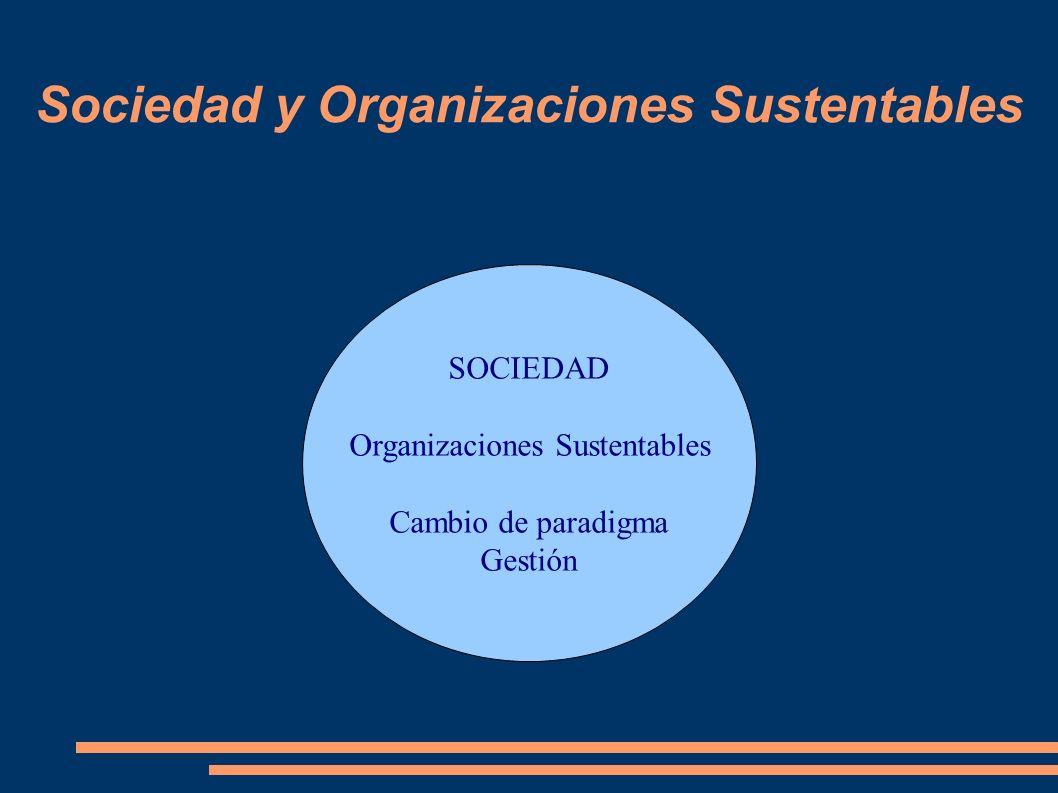 Sociedad y Organizaciones Sustentables