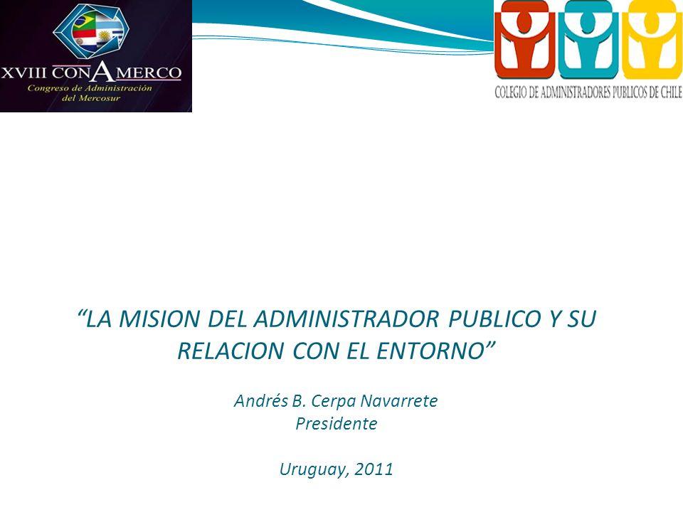 Colegio de Administradores Públicos de Chile A.G. Fundado en 1969