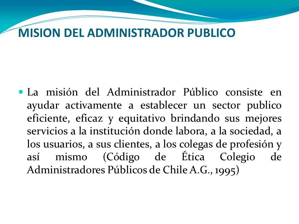 MISION DEL ADMINISTRADOR PUBLICO