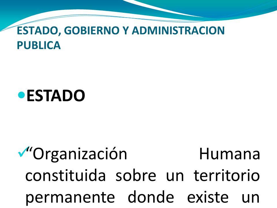 ESTADO, GOBIERNO Y ADMINISTRACION PUBLICA