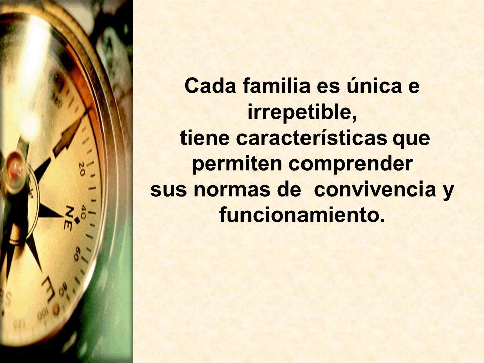 Cada familia es única e irrepetible,