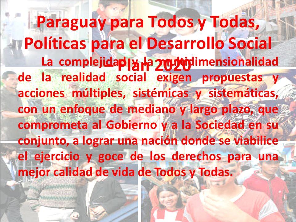 Paraguay para Todos y Todas, Políticas para el Desarrollo Social – Plan 2020