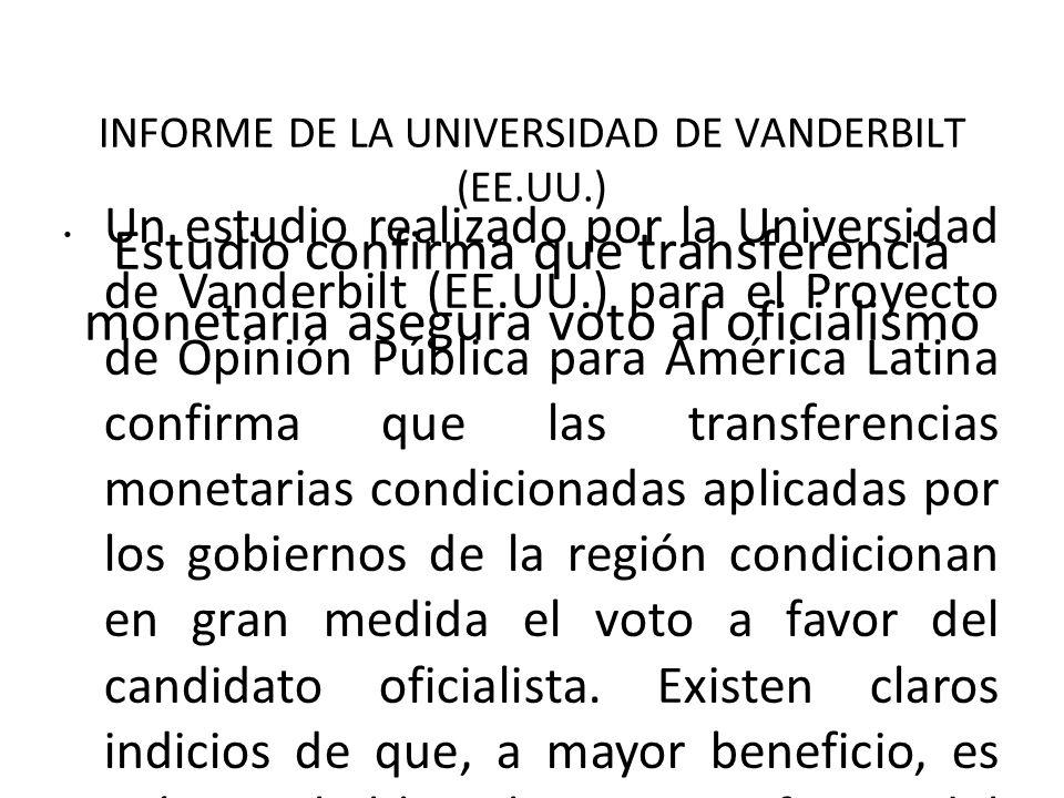 INFORME DE LA UNIVERSIDAD DE VANDERBILT (EE. UU