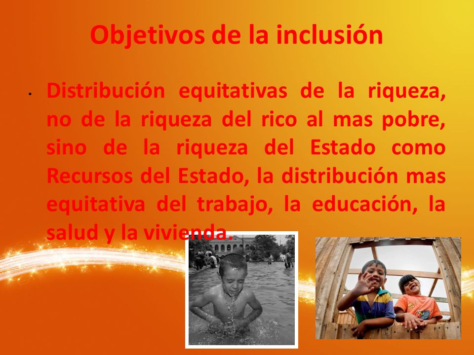 Objetivos de la inclusión