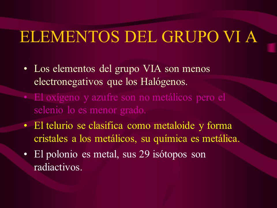 elementos del grupo vi a - Tabla Periodica Grupo 6 A
