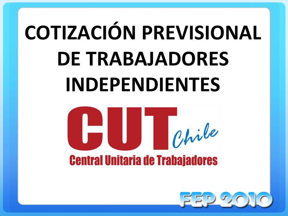 COTIZACIÓN PREVISIONAL DE TRABAJADORES INDEPENDIENTES