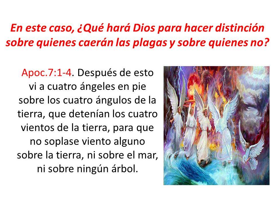En este caso, ¿Qué hará Dios para hacer distinción sobre quienes caerán las plagas y sobre quienes no