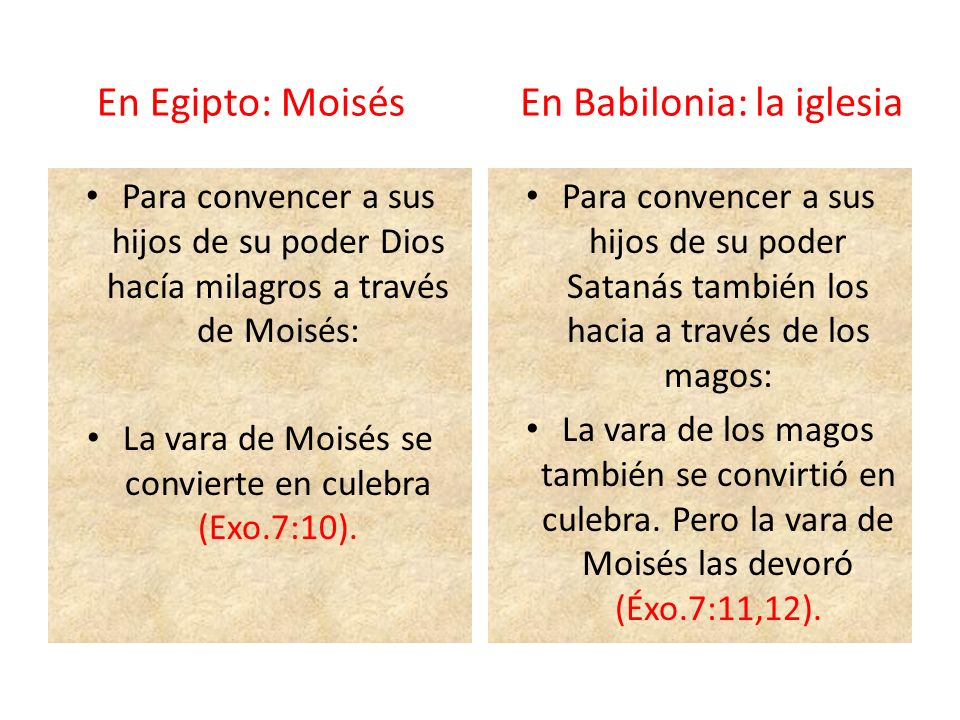 La vara de Moisés se convierte en culebra (Exo.7:10).