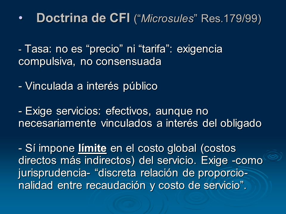Doctrina de CFI ( Microsules Res