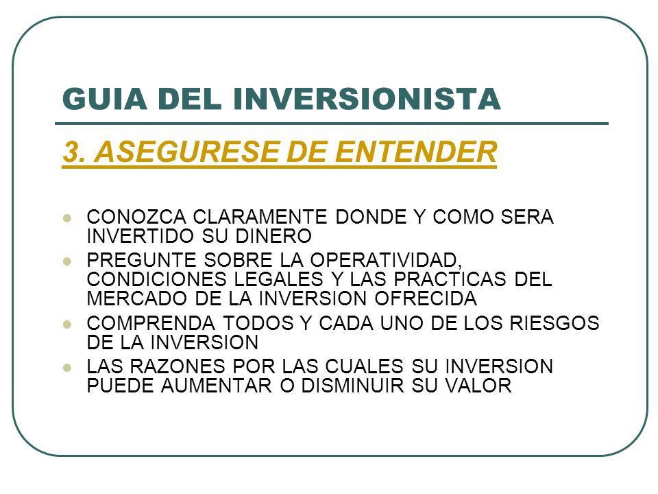 GUIA DEL INVERSIONISTA