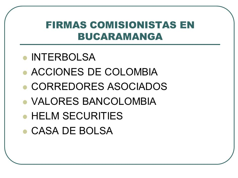 FIRMAS COMISIONISTAS EN BUCARAMANGA