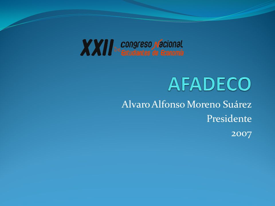 Alvaro Alfonso Moreno Suárez Presidente 2007