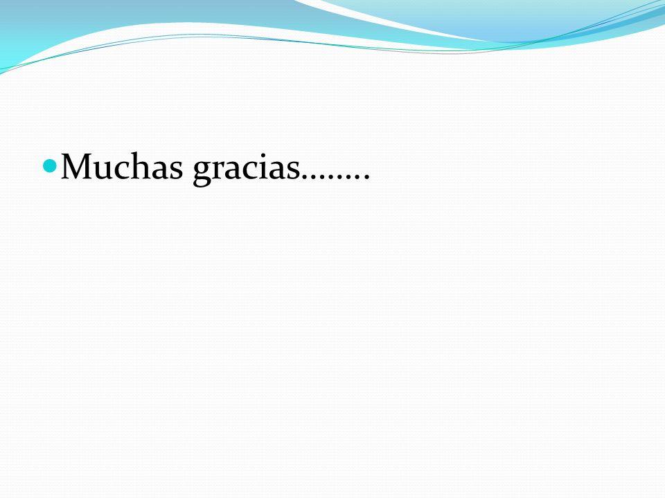 Muchas gracias……..