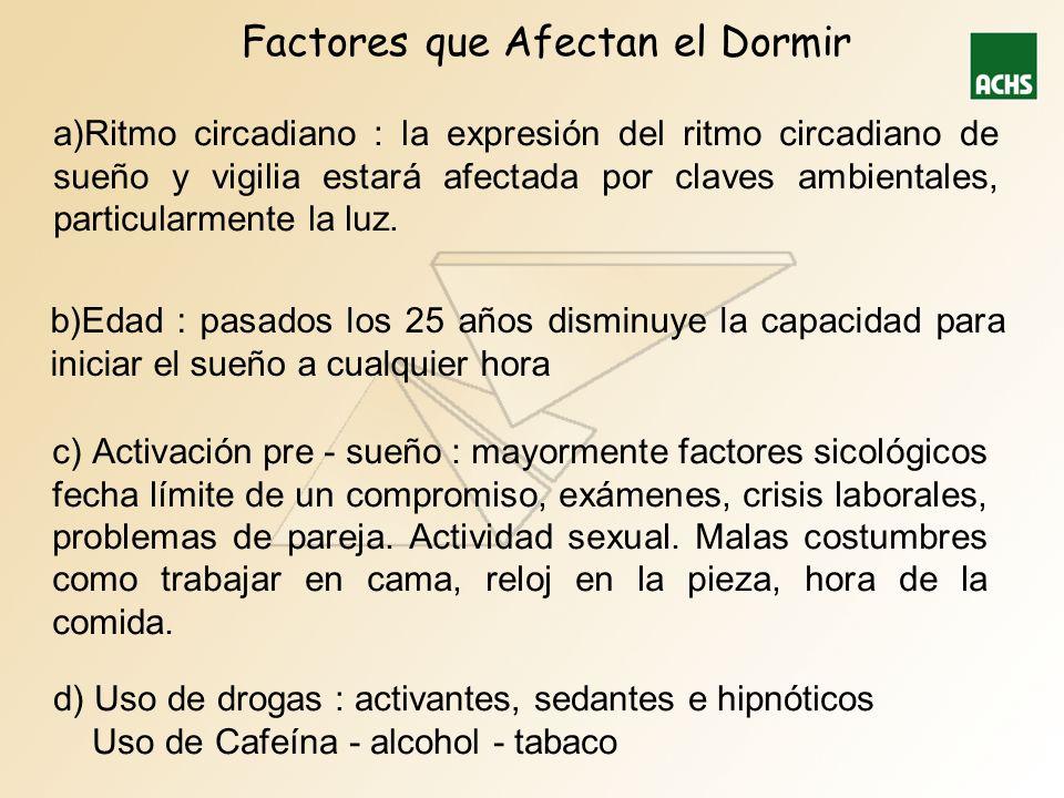 Factores que Afectan el Dormir