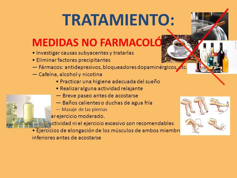TRATAMIENTO: MEDIDAS NO FARMACOLÓGICAS