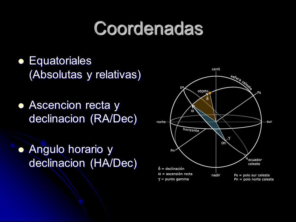 Coordenadas Equatoriales (Absolutas y relativas)