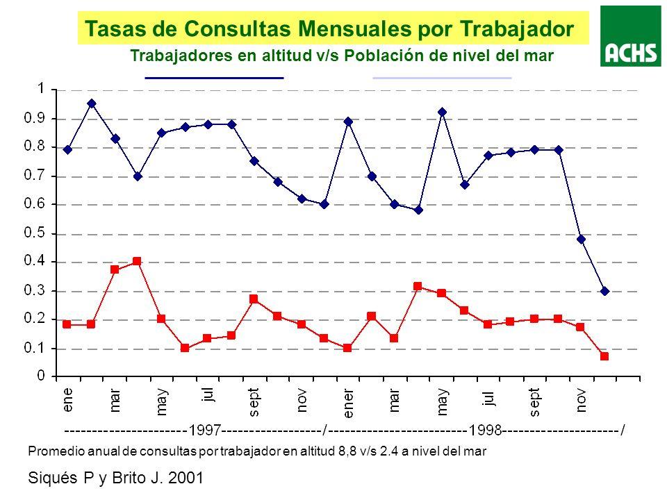 Tasas de Consultas Mensuales por Trabajador