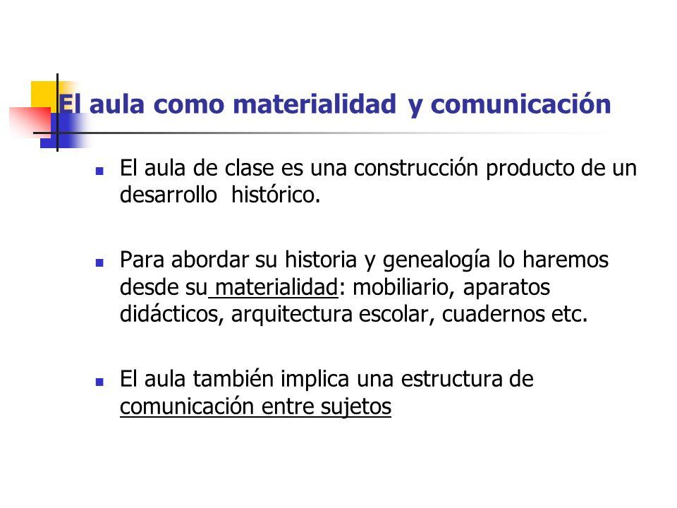El aula como materialidad y comunicación