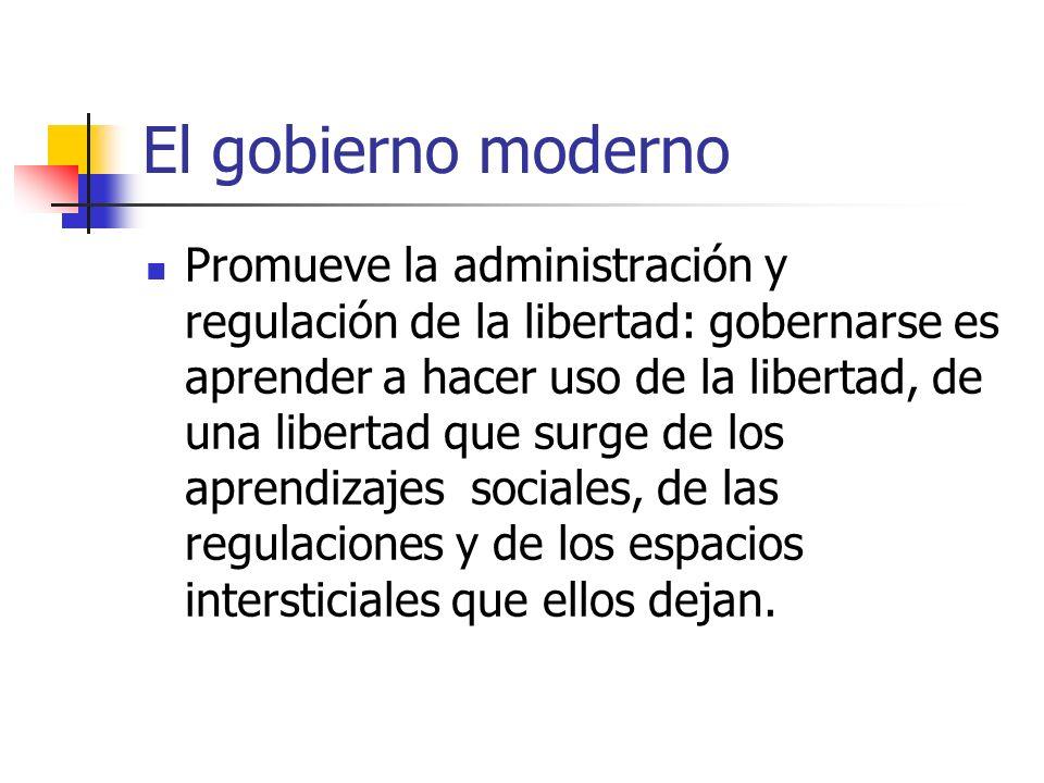 El gobierno moderno
