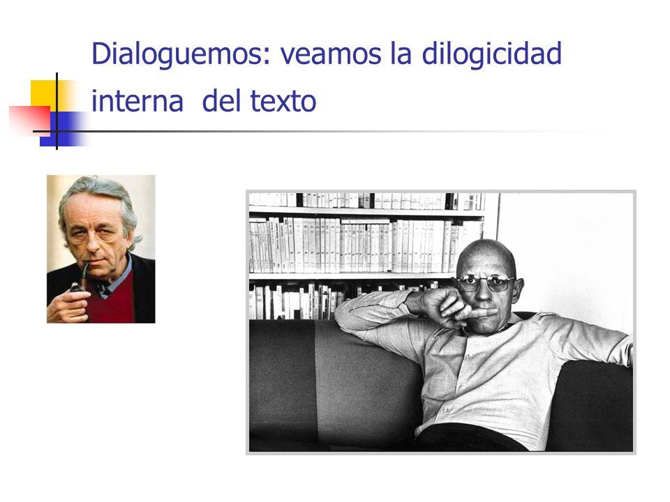 Dialoguemos: veamos la dilogicidad interna del texto