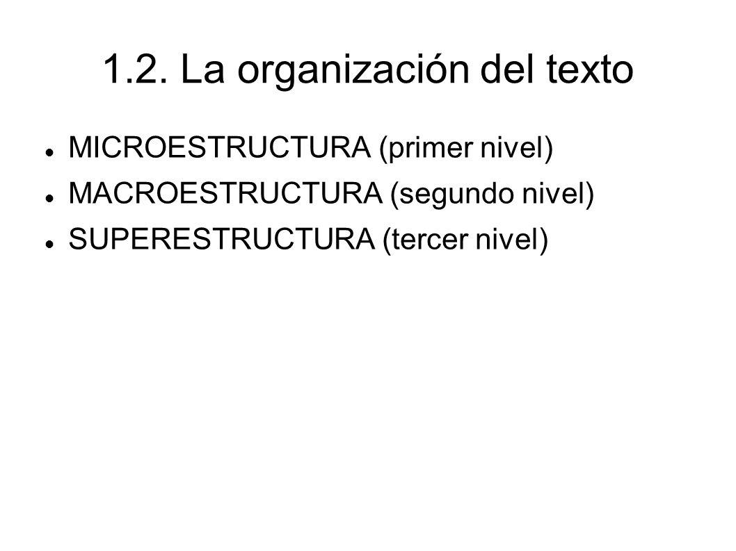 1.2. La organización del texto