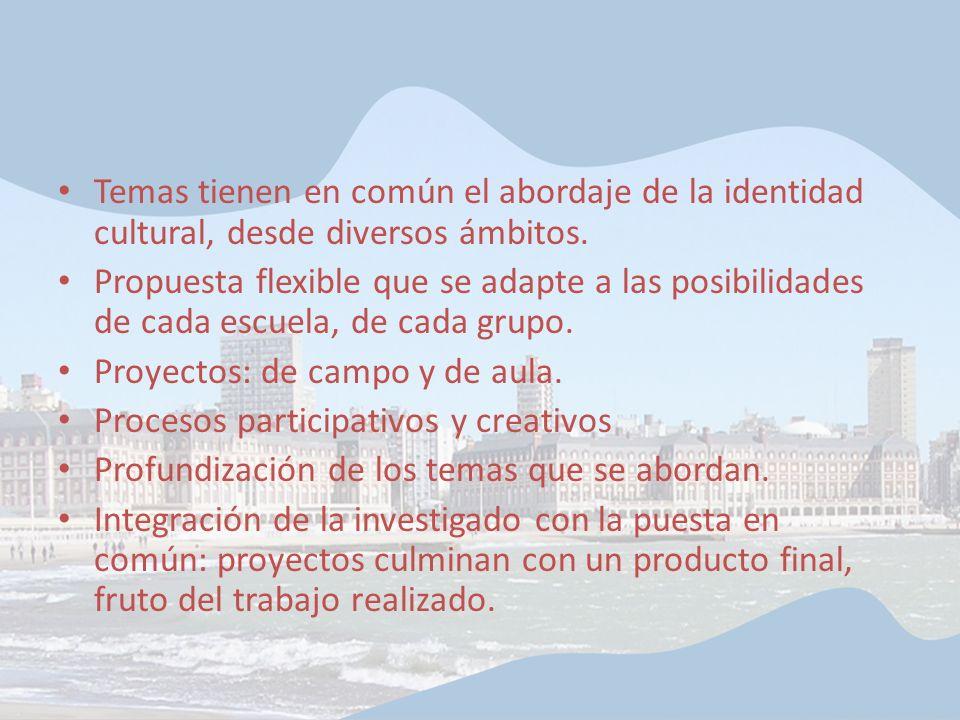 Proyectos: de campo y de aula. Procesos participativos y creativos