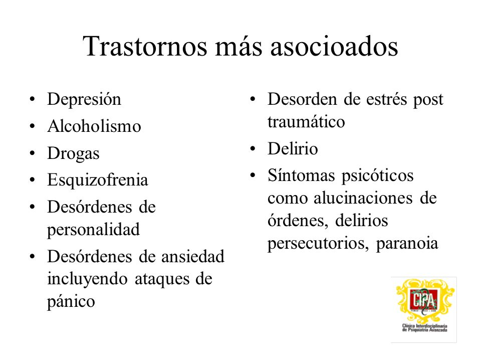 Trastornos más asocioados