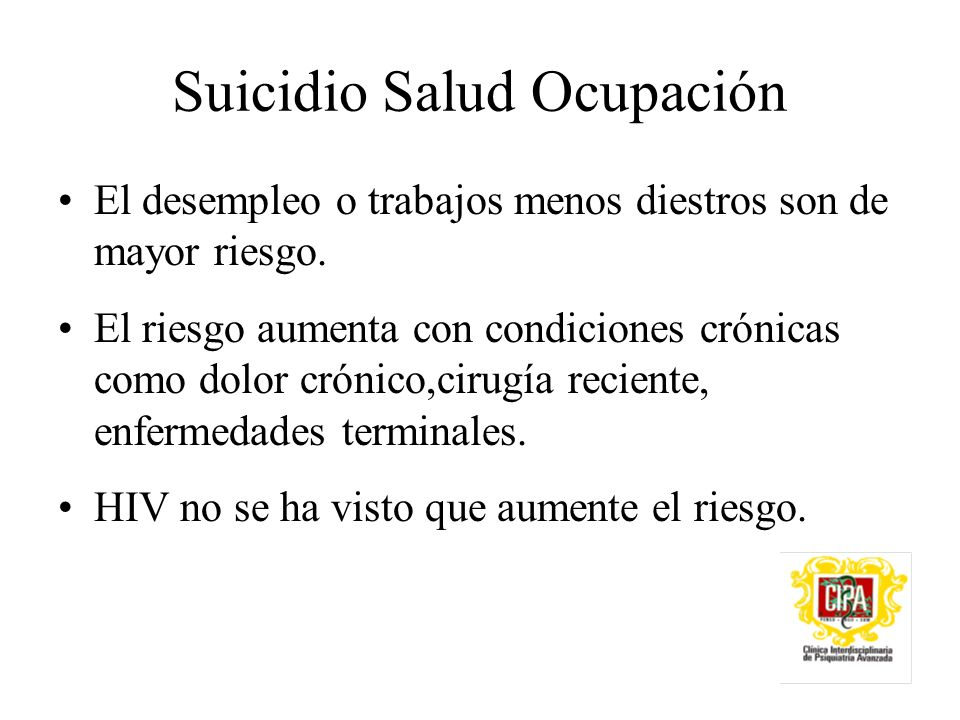 Suicidio Salud Ocupación