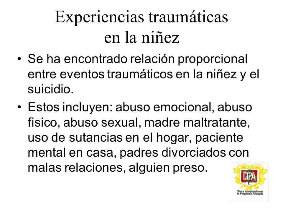 Experiencias traumáticas en la niñez