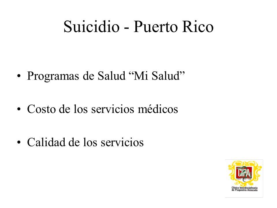 Suicidio - Puerto Rico Programas de Salud Mi Salud