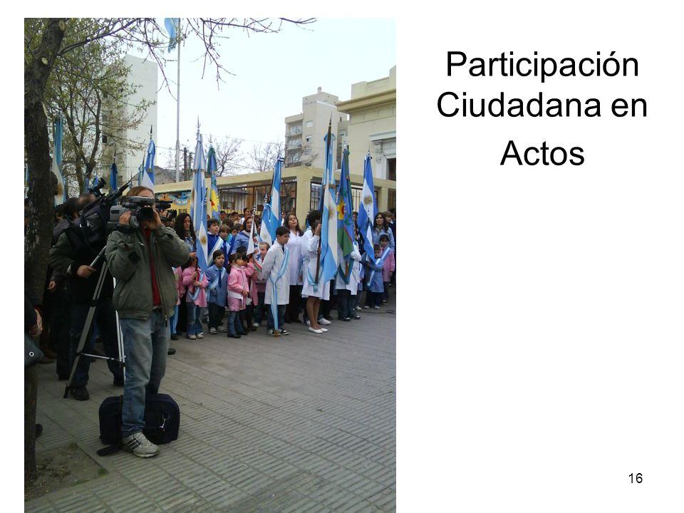Participación Ciudadana en Actos