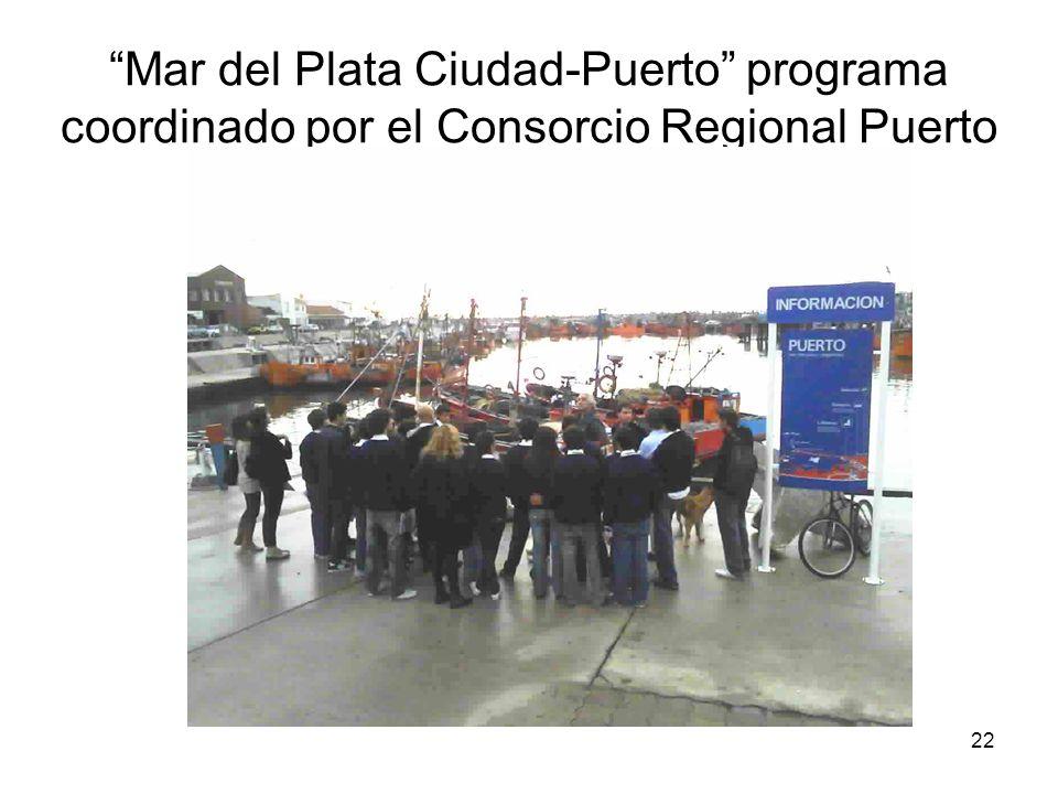 Mar del Plata Ciudad-Puerto programa coordinado por el Consorcio Regional Puerto