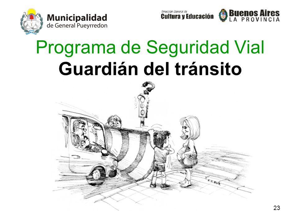 Programa de Seguridad Vial Guardián del tránsito
