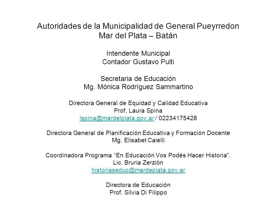 Autoridades de la Municipalidad de General Pueyrredon