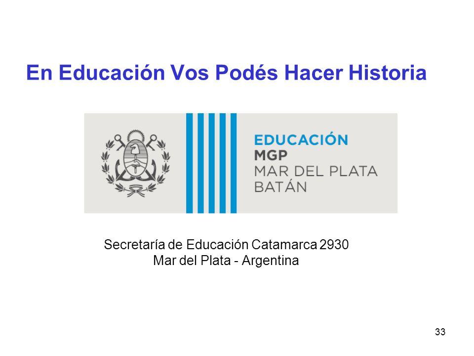En Educación Vos Podés Hacer Historia