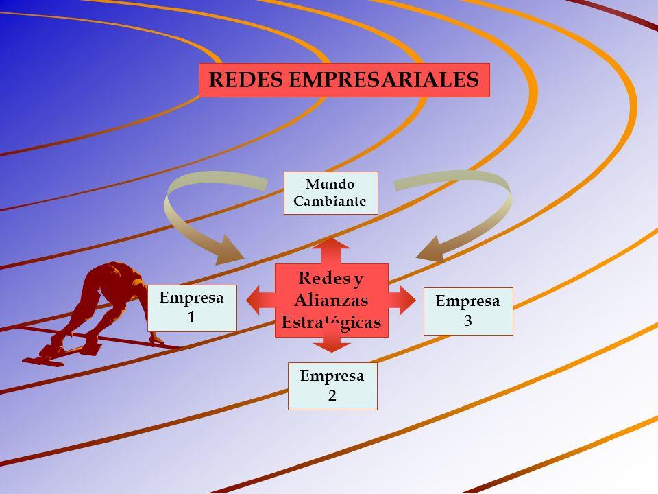 REDES EMPRESARIALES Redes y Alianzas Estratégicas Empresa 1 Empresa 3