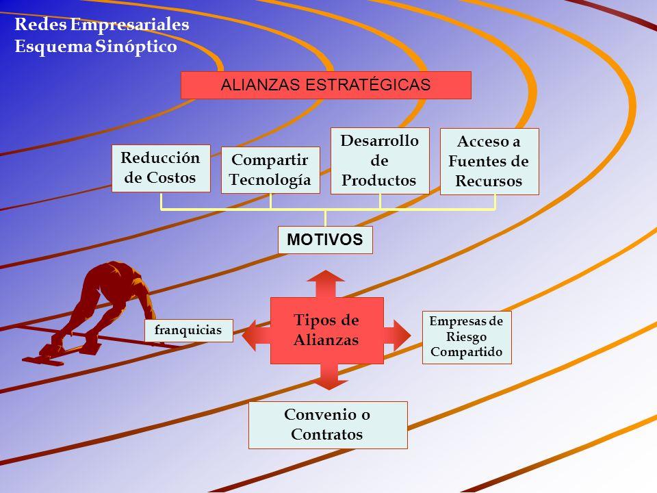 Redes Empresariales Esquema Sinóptico ALIANZAS ESTRATÉGICAS