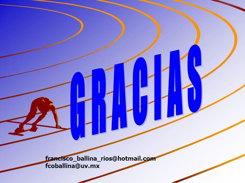 G R A C I A S francisco_ballina_rios@hotmail.com fcoballina@uv.mx