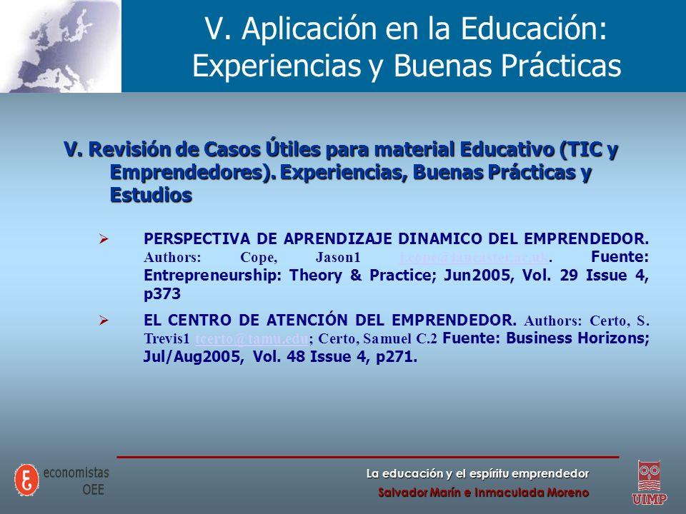 V. Aplicación en la Educación: Experiencias y Buenas Prácticas