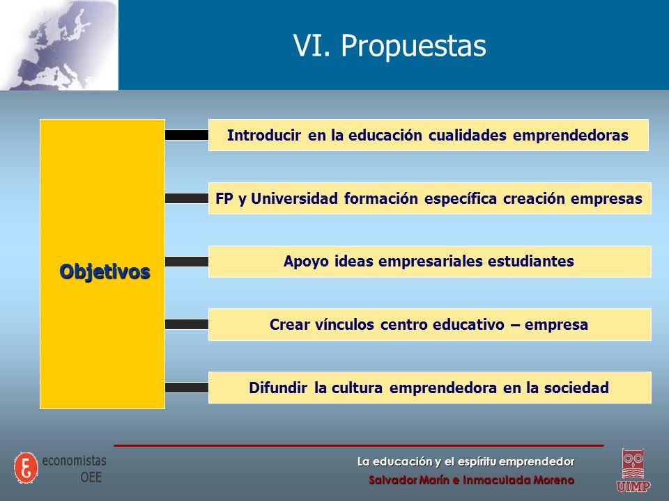 VI. Propuestas Objetivos