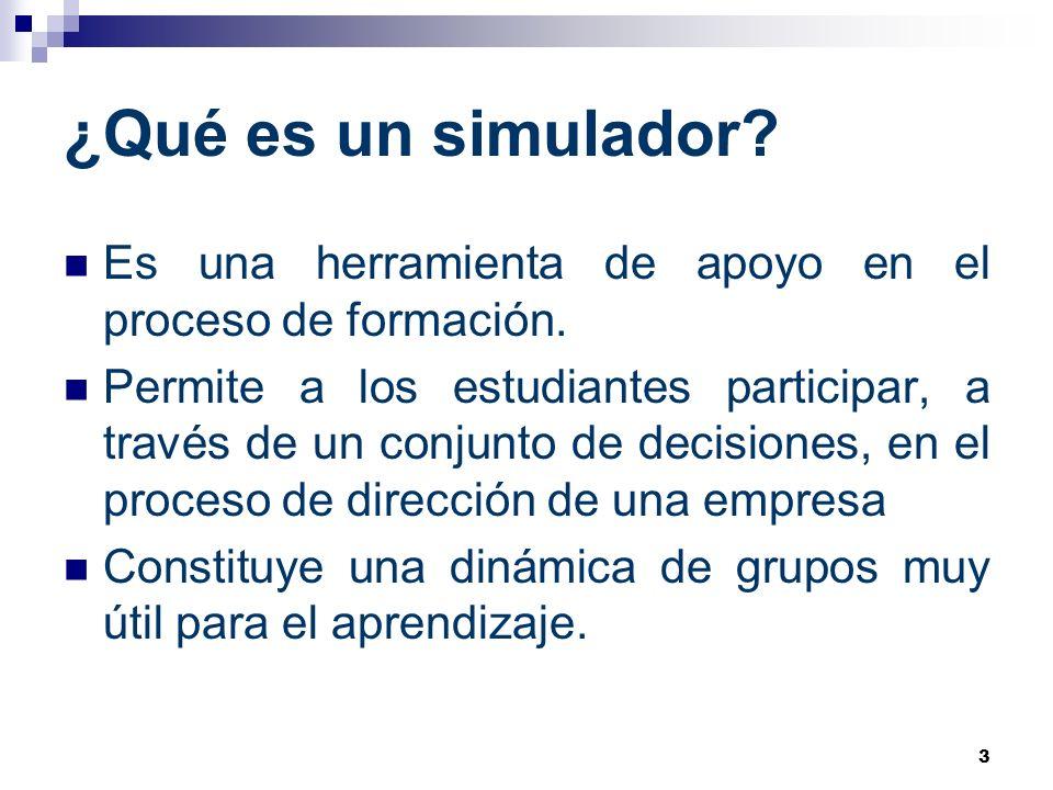 ¿Qué es un simulador Es una herramienta de apoyo en el proceso de formación.