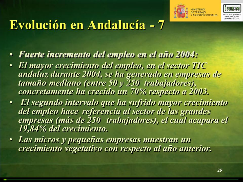 Evolución en Andalucía - 7