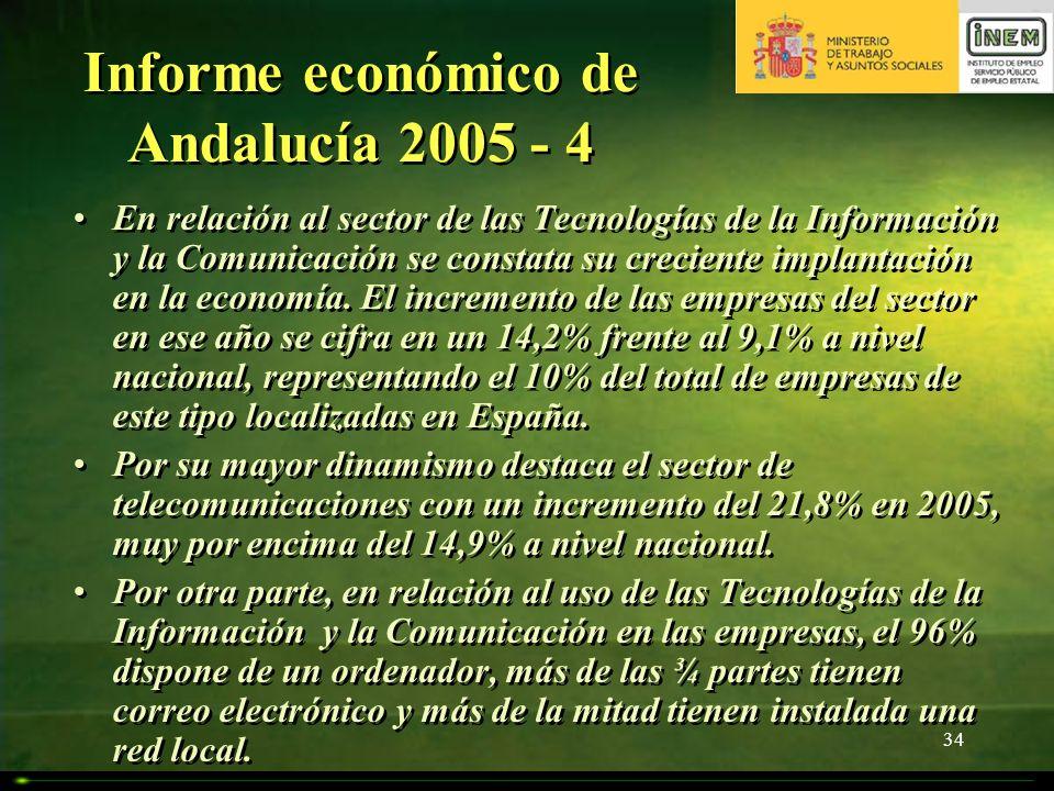 Informe económico de Andalucía 2005 - 4