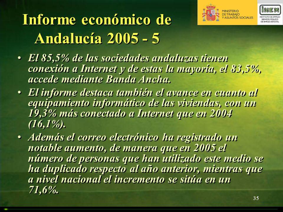 Informe económico de Andalucía 2005 - 5