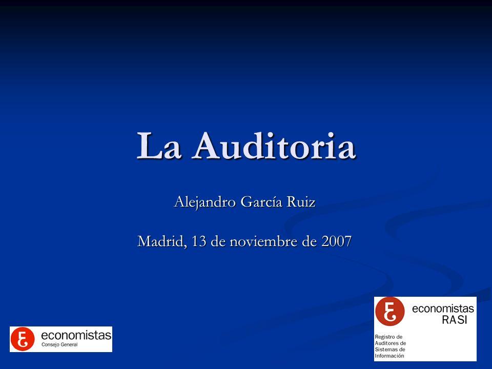 Alejandro García Ruiz Madrid, 13 de noviembre de 2007