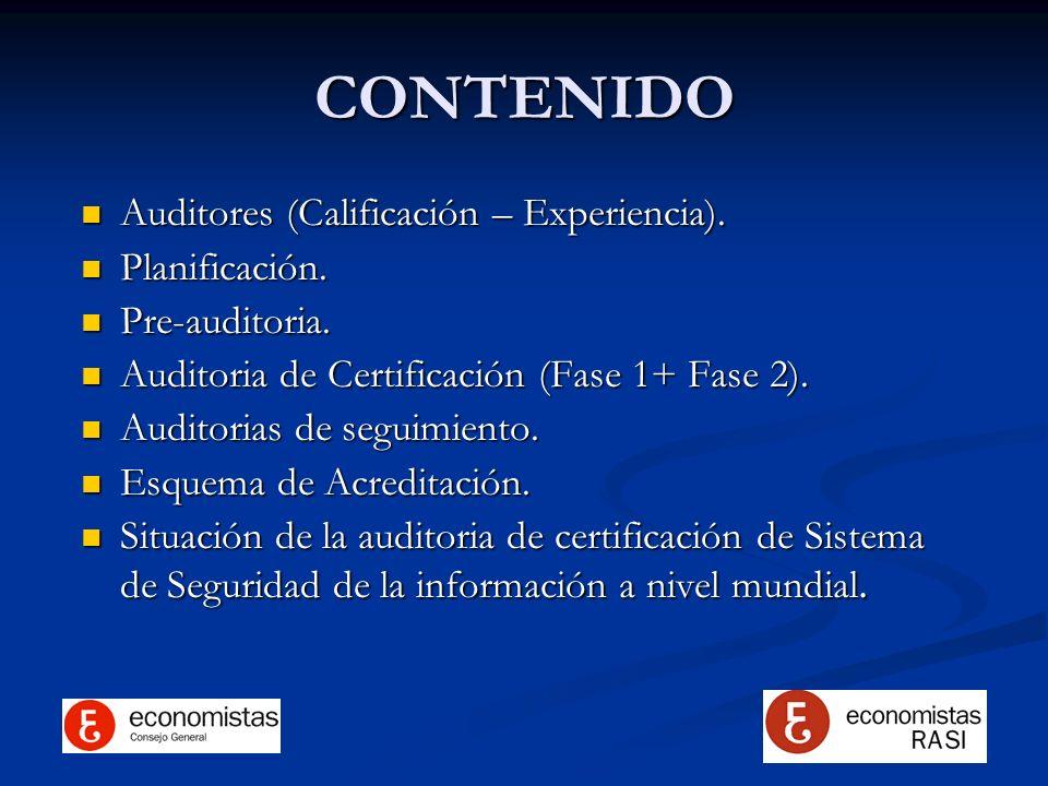 CONTENIDO Auditores (Calificación – Experiencia). Planificación.