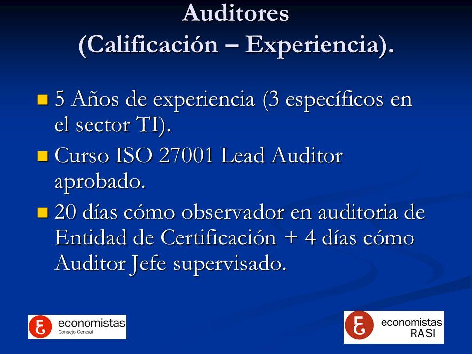 Auditores (Calificación – Experiencia).